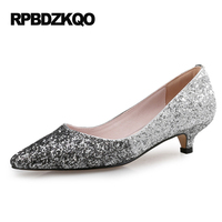 Multi Colored Shoes Ladies European Pointed Toe Bride 3cm 1 Inch 12 44 Pumps Plus Size