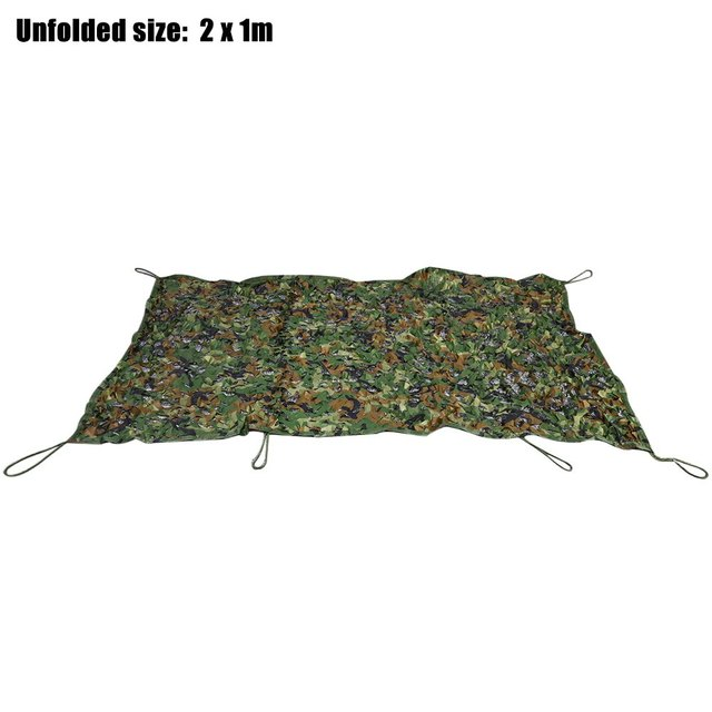1X 2M Military Hunting Camping Car Tent Sun Shelter Woodland Camouflage Net Camo Military Sunshade Awning