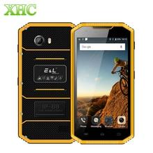 KXD E & L W7S Android 6,0 teléfono móvil 2GB 16GB IP68 impermeable a prueba de golpes a prueba de polvo 5,0 pulgadas MTK6737 Quad Core Dual SIM Smartphone