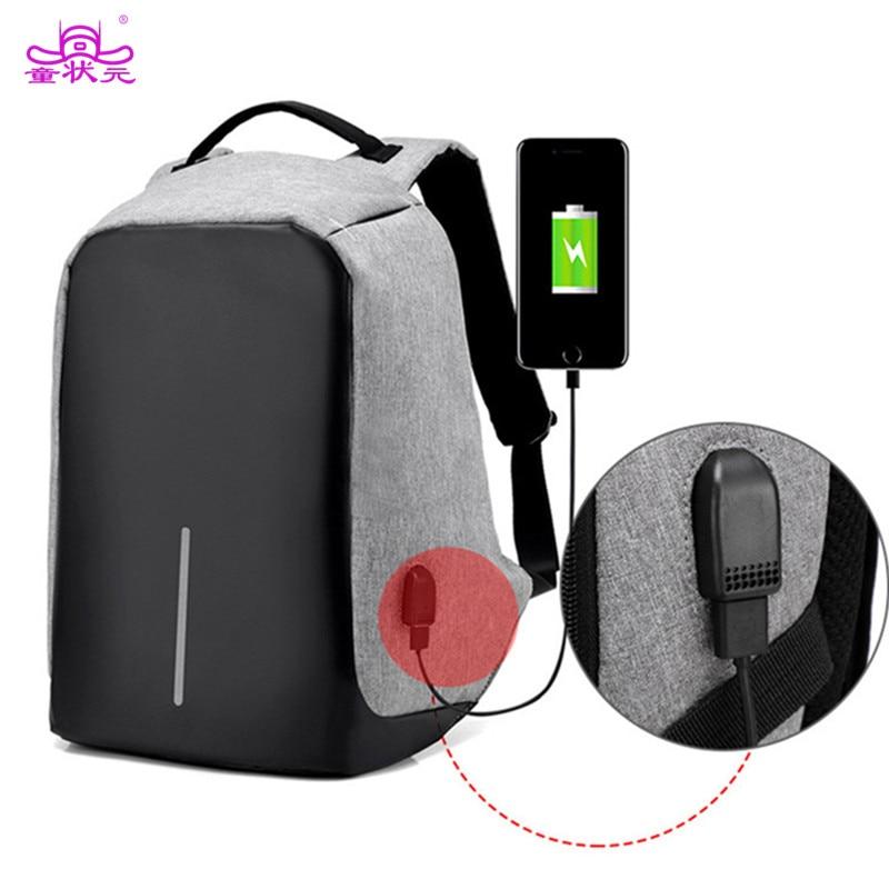Multifunction USB charging Men 15inch <font><b>Laptop</b></font> Backpacks For Teenager Fashion Male Mochila Leisure Travel backpack Anti Theft Bag