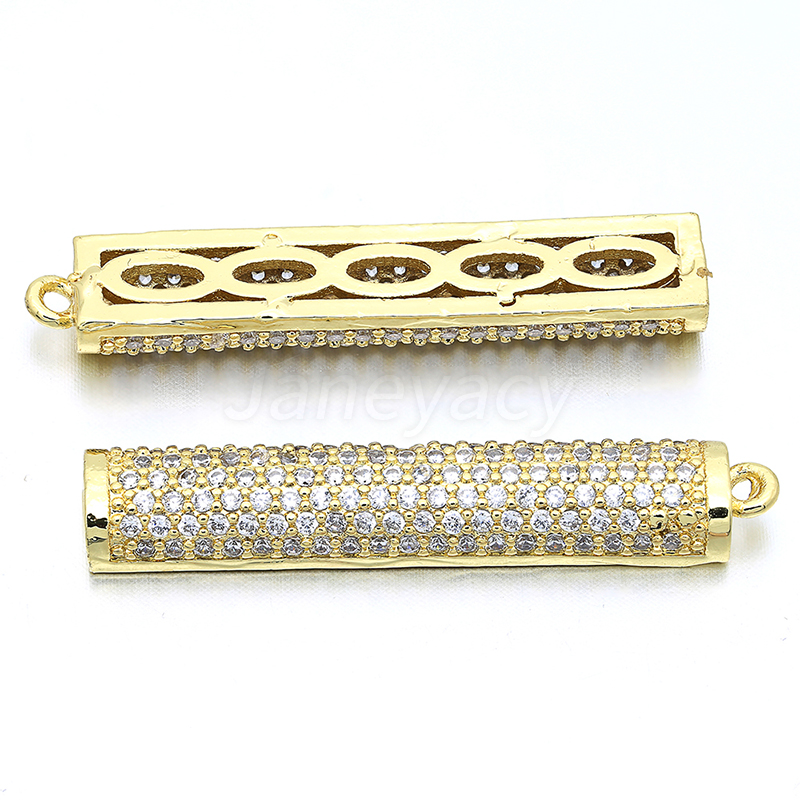 High Quality Brass Cubic Pendant Accessories Zircon DIY Earrings Brooch Accessories Production Connector Accesorios L35 W7mm in Jewelry Findings Components from Jewelry Accessories