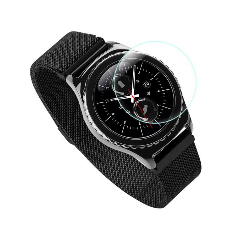 Tempered Glass Film For Samsung Gear S3 Smart Watch 9H Anti Scratch Ultra Thin Screen Protector Film P20 yi yi ultra thin tempered glass screen protector for lg g3 transparent