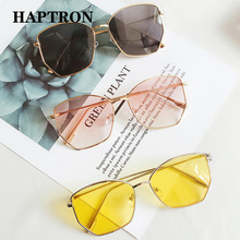 2018 Clear Candy Color Square Sunglasses Women Fashion Oversized Sun Gl