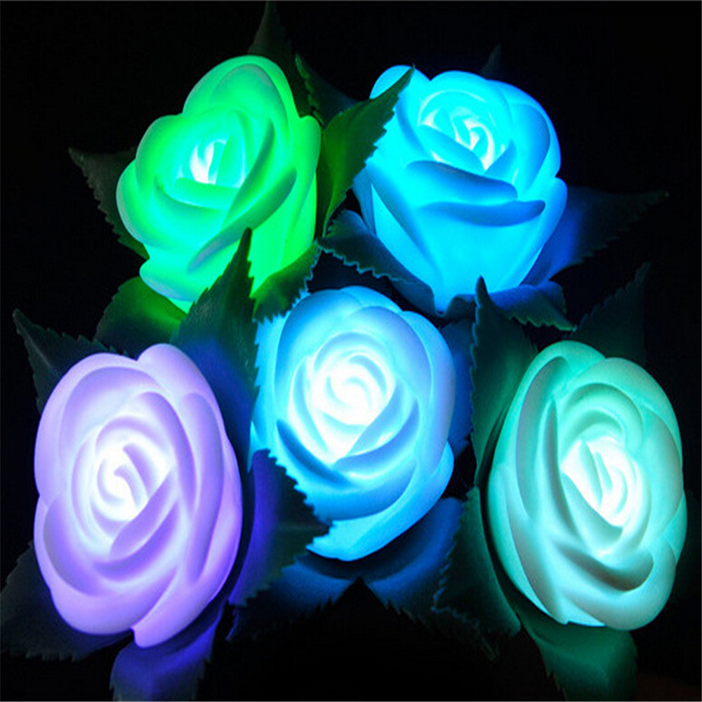 Beautiful Design 20 LED Battery Operated Rose Flower String Lights ...