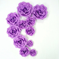11PCS SET Purple Giant Foam Rose for Wedding Background Backdrops Decorations Windows Display Party and Event Deco