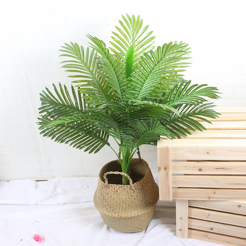 Artificial Palm Tree Green Leaves Realistic Garden Green Plants Ins Home Office Living Room Decorative Plants