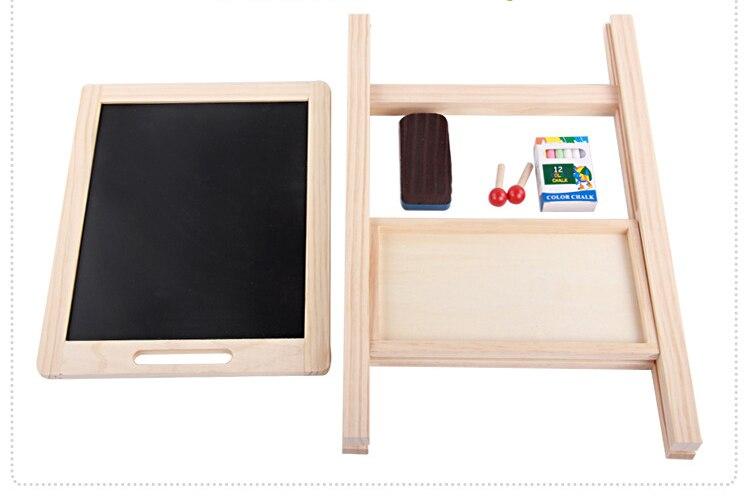 Tableau noir en bois réglable en hauteur Double face planche à dessin enfants apprenant tableau d'écriture Double face - 5