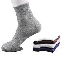 5 пар всех сезонов мужские деловые повседневные хлопковые носки весна лето осень зима однотонные носки Мужские дышащие носки