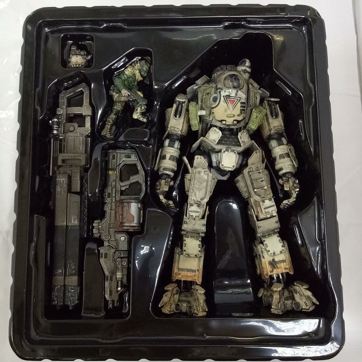 SQUARE ENIX Play Arts KAI Titanfall ATLAS PVC Action Figure Collectible Model Toy 28cm halo 5 guardians play arts reform master chief action figure
