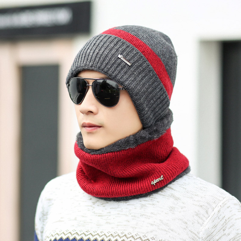 Neck warmer winter hat mask cap Balaclava scarf cap Winter wool Hats For men knitted hat womena Beanie Knit Hat Skullies Beanies in Men 39 s Skullies amp Beanies from Apparel Accessories