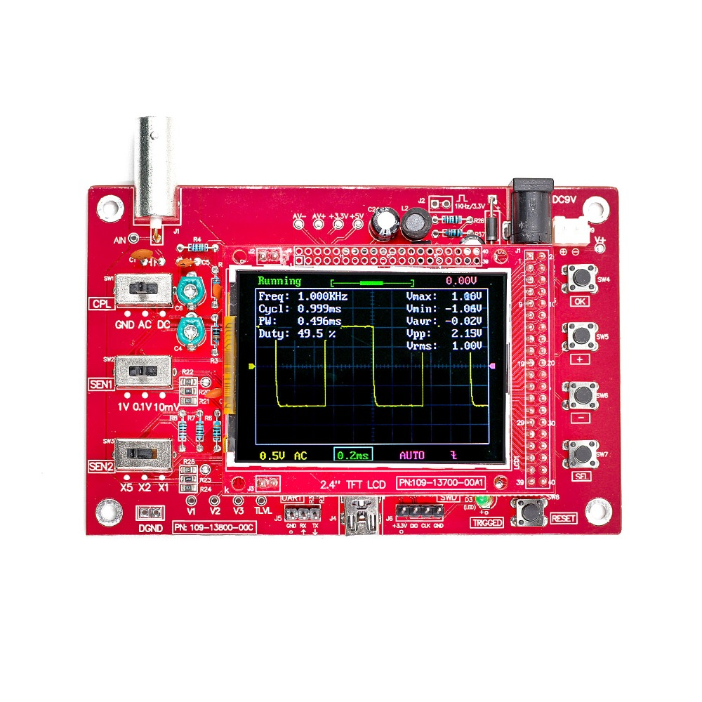 "Image 3 - DSO FNIRSI 138 2.4"" TFT Digital Oscilloscope 1Msps + Probe Analog Bandwidth (Welded)-in Oscilloscopes from Tools"