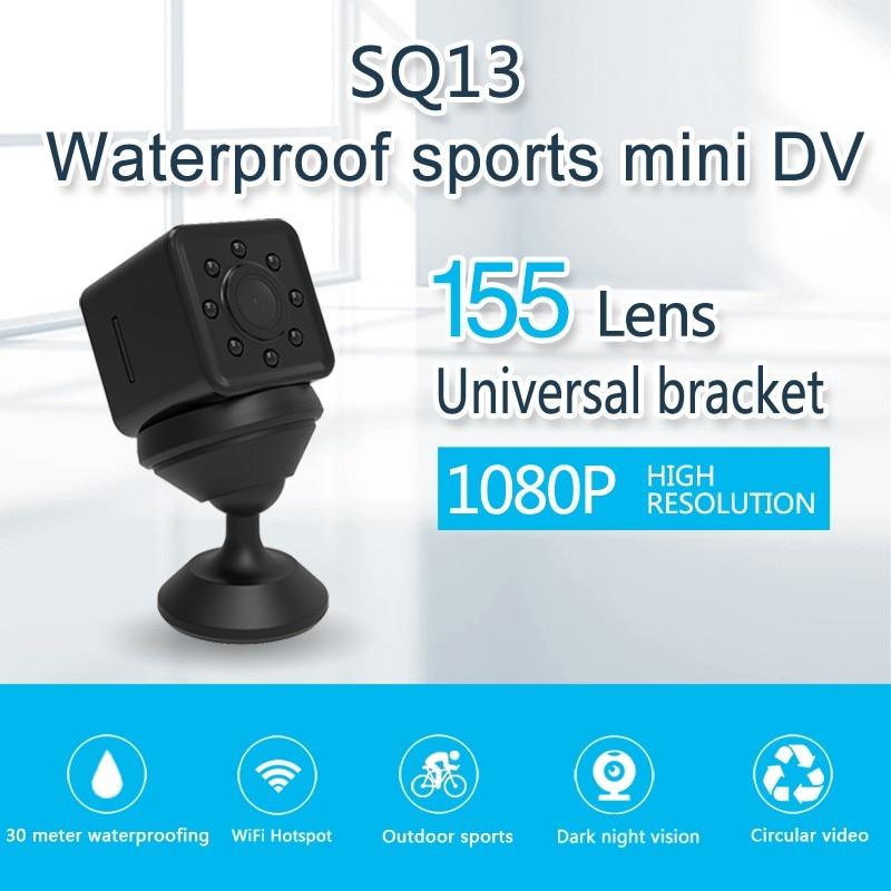 SQ13 Original Mini cámara inalámbrica WiFi Cam Full HD 1080 p deporte DV Recorder visión de noche pequeña acción de la videocámara de la cámara DVR