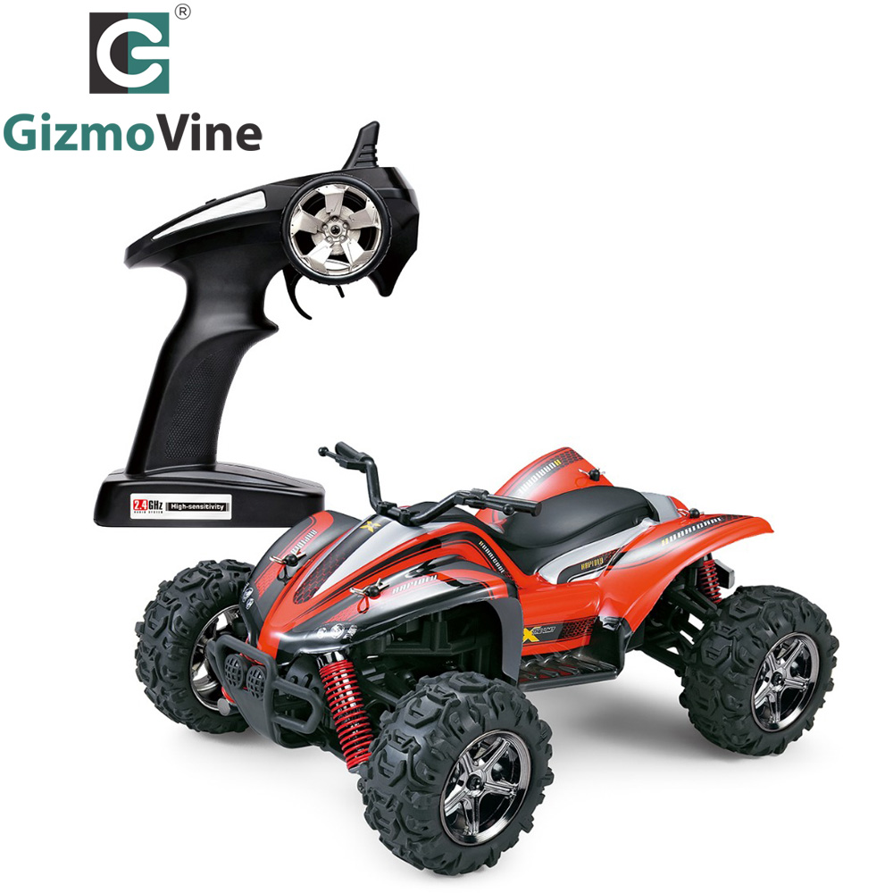 GizmoVine RC Car 1/24 High Speed mini Motors Drive RC Toys Hobby Car 2.4GHz Full Scale High Speed 4WD Off Road Racer