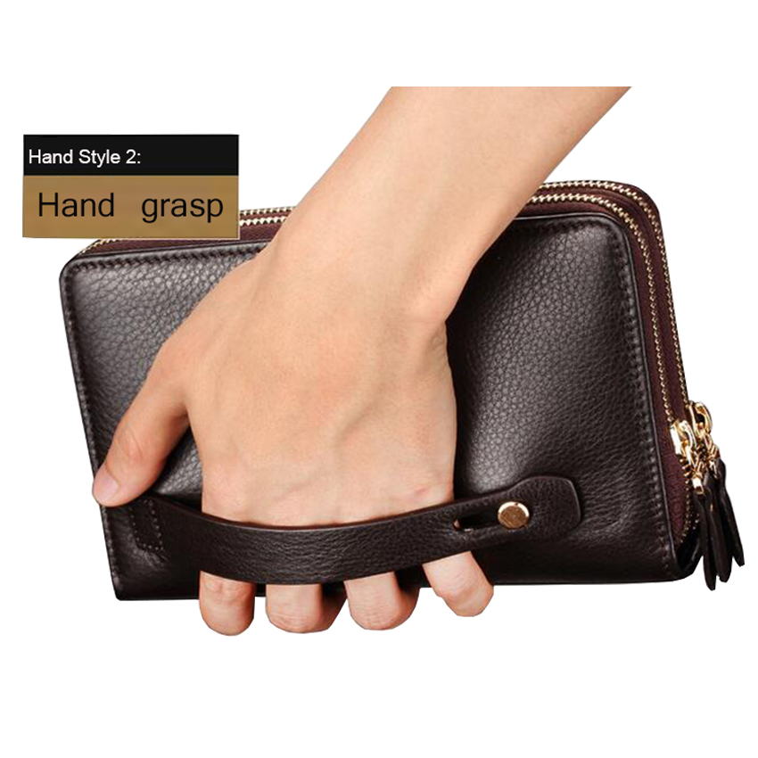 bolsa de mão de couro Fashion Mens Wallet : Purse Male Leather