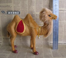 lovely simulation camel toy resin&fur cute camel model gift about 26x10x33cm