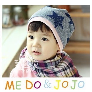 10PCS/lot wholesale five star infant cap Cotton kids hats Boy Girl baby hat Children children clothing