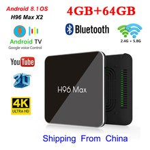 TV Box Android 8.1 H96 MAX X2 4GB 32GB/64GB Amlogic S905X2 Support HD2.0 4K 2.4/5Gwifi USB3.0 Google Play Youtube Media Player smart tv box android 8 1 h96 max x2 amlogic s905x2 4k media player 4gb 64gb h96max ddr4 tv box quad core 2 4g