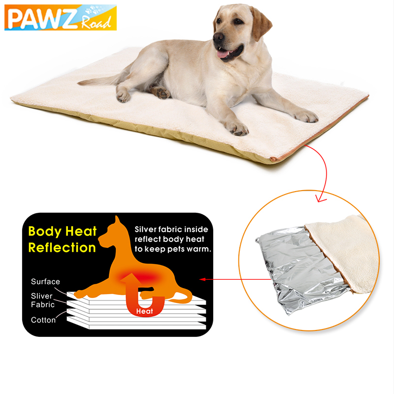 Dog Bed Winter Super Warm Comfortable Heating Pad Mat For Dog Cat Machine Washable Non-slip Detachable Cover Pet House Cushion