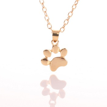 Cute Pets Footprints Paw Pendant Necklace
