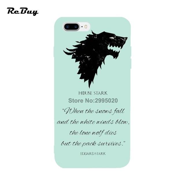 game of thrones maison stark logo pour iphone cas doux tpu