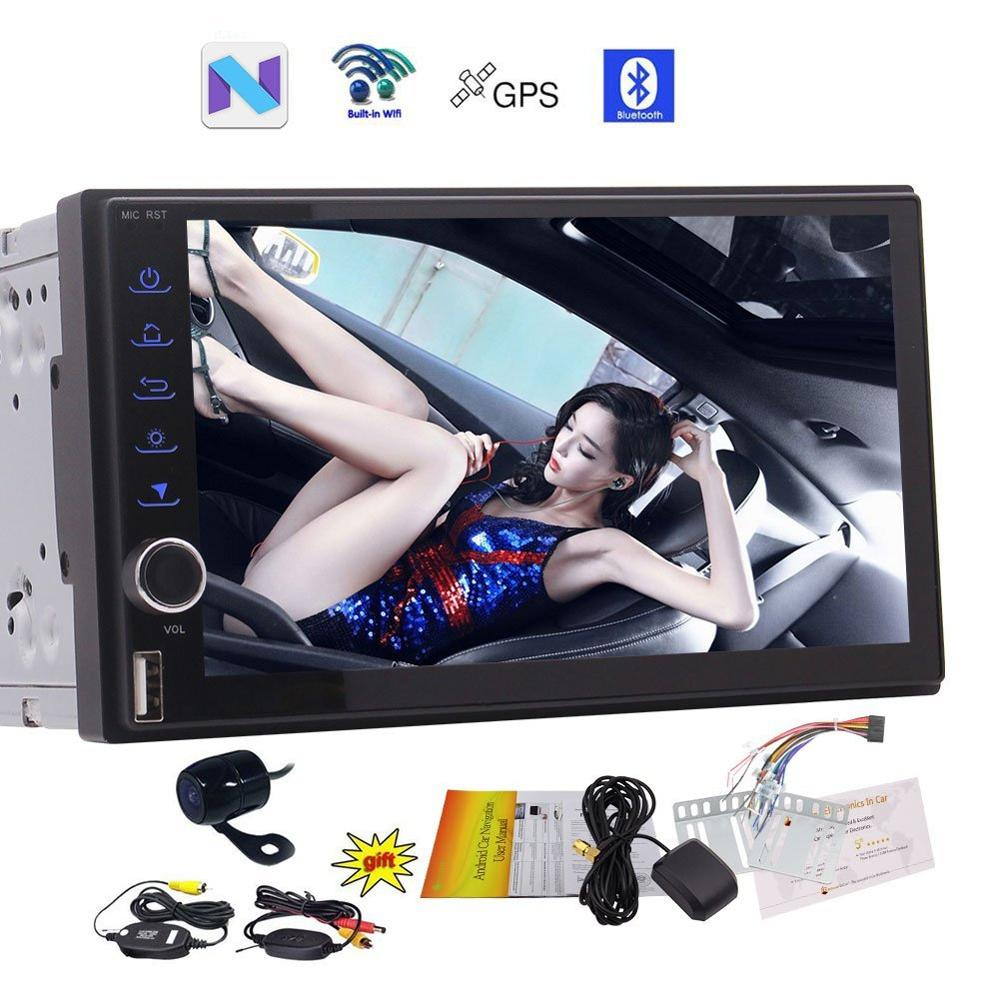Free Wireless Backup Camera Android7 1 Nougat EinCar Car Stereo 7 Double Din font b GPS