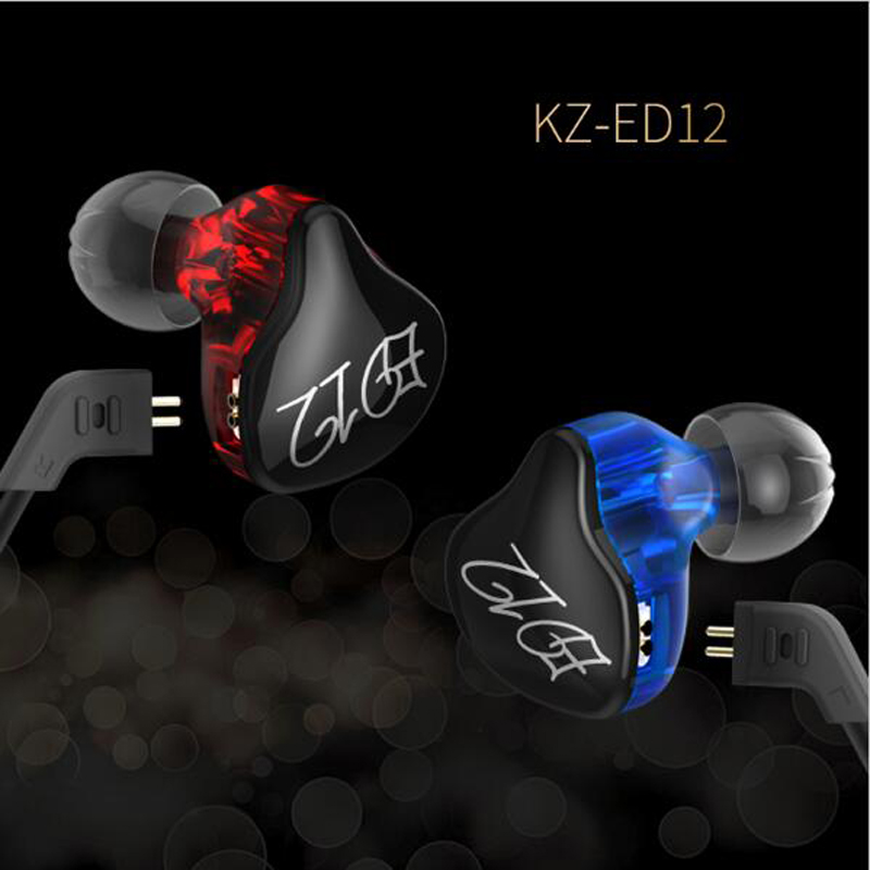 KZ ED12 Earphone Detachable Cable In Ear Audio Monitors Noise Isolating HiFi Music Sports Headset Earbuds With Microphone