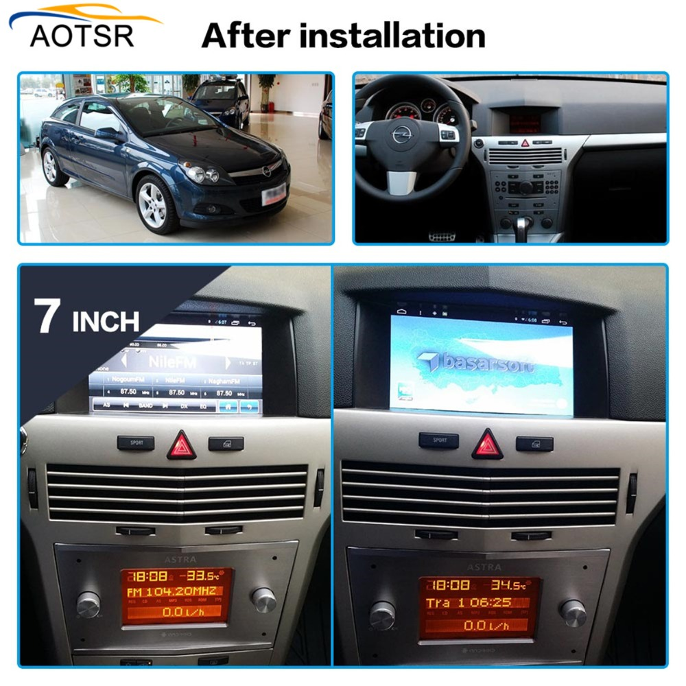 Android 7 1 Car GPS Radio Player for Opel Astra H 2006 2007 2008 2009 2010