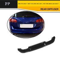 PP Auto Car accessories Rear Bumper Lip Diffuser for Volkswagen Golf 7 MK7 R & RLINE bumper 2014UP