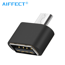AIFFECT Data Portable OTG Converter Micro USB Male To USB2.0 Female Adapter for Android Phone Tablets GPS Devices Cameras