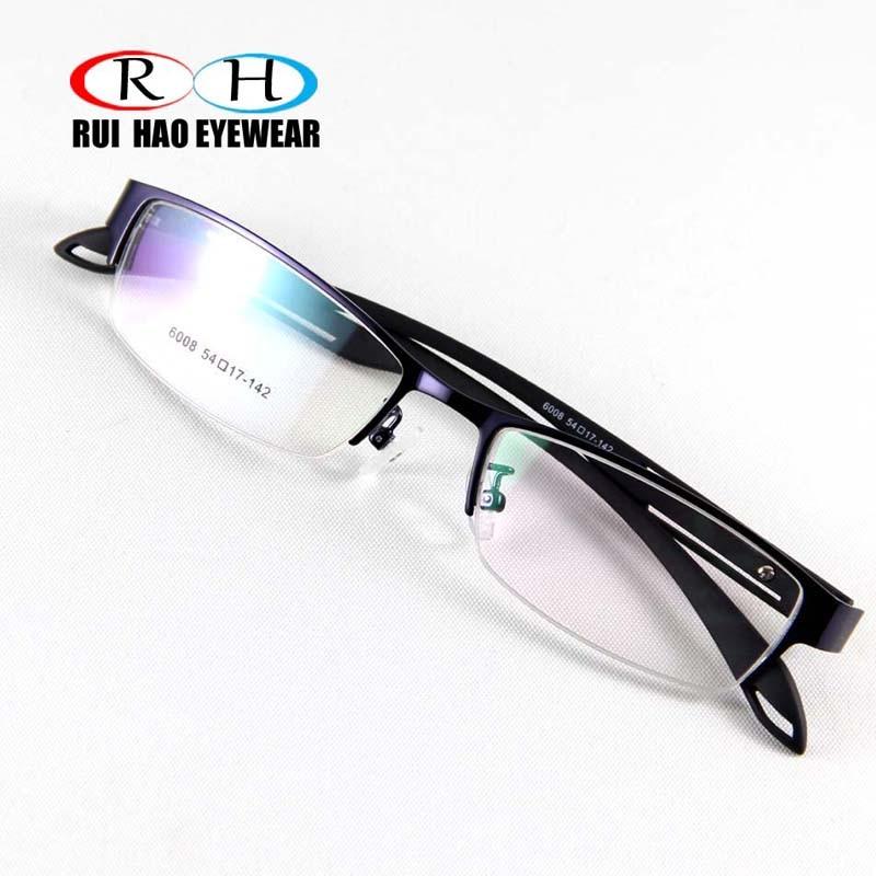 f481baa301 RUI HAO EYEWEAR Eyeglasses Frame Men Stainless steel Eyewear Frames Fashion  Rectangle Design Optical Spectacles oculos masculine-in Eyewear Frames from  ...