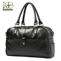 Hot Top Quality PU Leather Outdoor Waterproof Sports Gym Training Bags Travel HandBag Men Messenger Bags