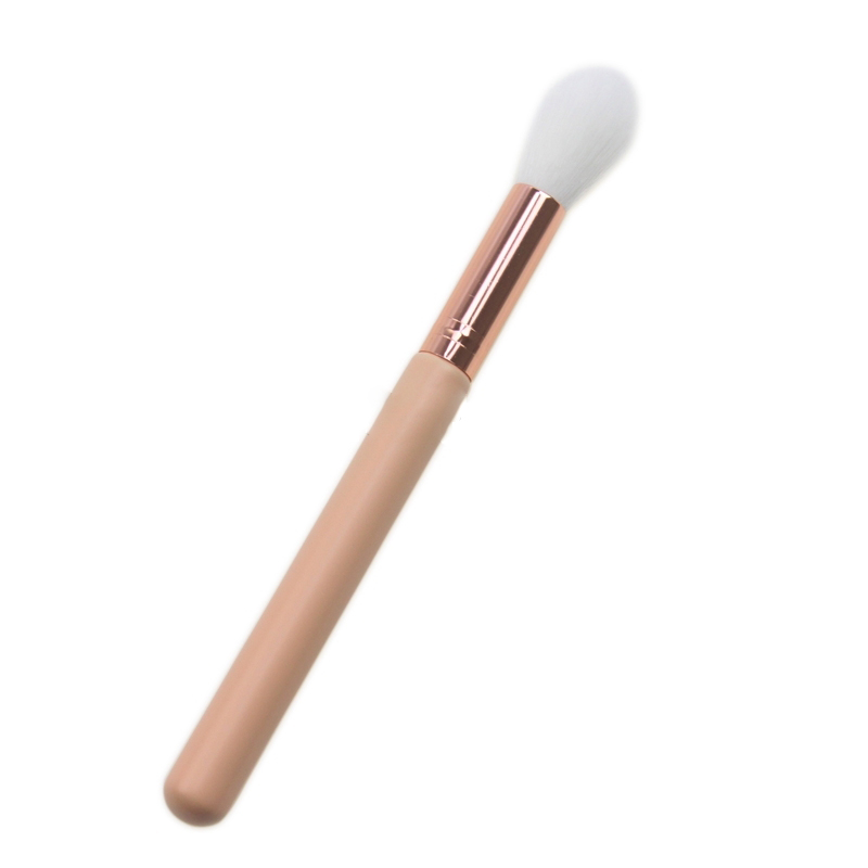 Image 3 - 1 PC F35   TAPERED HIGHLIGHTER Perfect Professional Individual Face Brush Cosmetic Makeup Brush Black With Pink Handle-in Eye Shadow Applicator from Beauty & Health