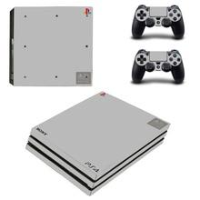 לבן שחור אדום כחול צבע טהור עור פרו PS4 מדבקת מדבקות לפלייסטיישן 4 קונסולה ובקר 2 מדבקת עור פרו PS4 ויניל