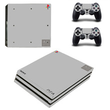 Pure Color White Black Red Blue PS4 Pro Skin Sticker Decal for PlayStation 4 Console and 2 Controller PS4 Pro Skin Sticker Vinyl