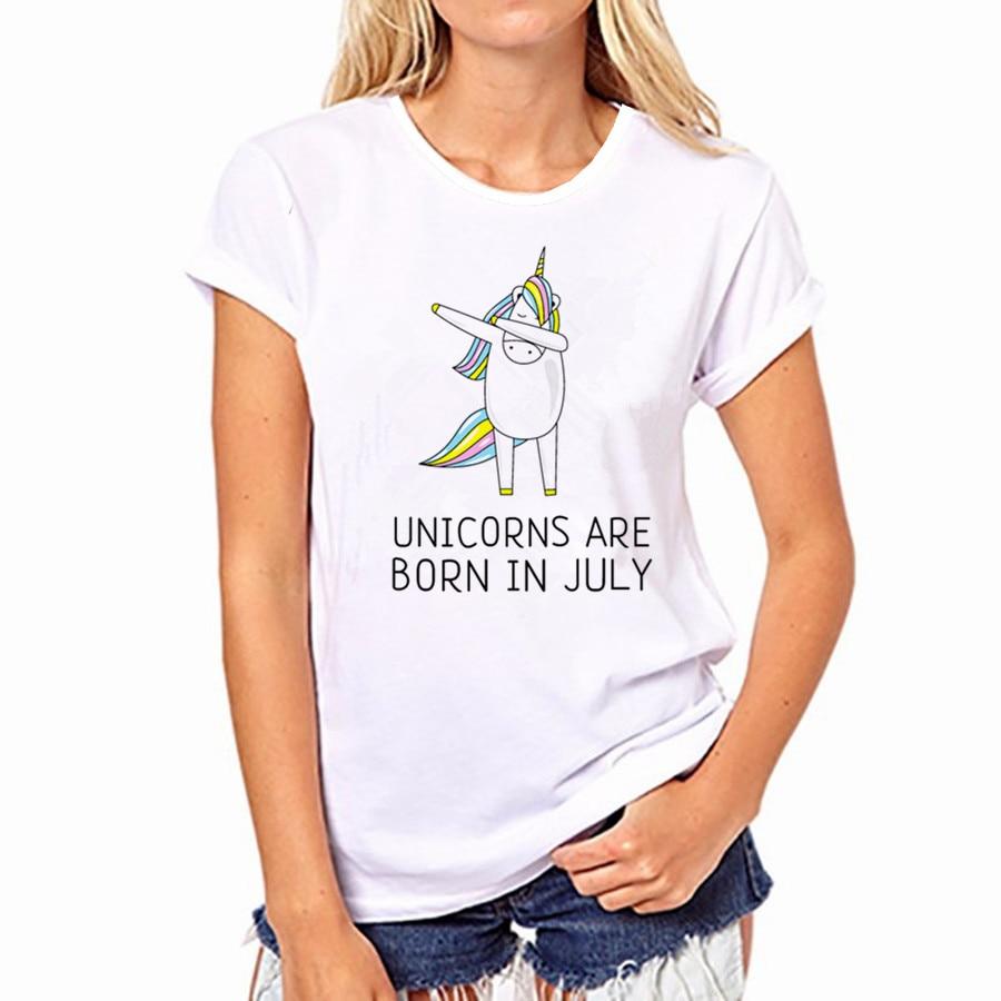 2017 Donne Bianche Di Cotone T Shirt Unicorn E Panda Maglietta A Maniche Corte T-shirt Ventilare Assorbire Il Sudore Top Camicia Gatto Unicornio