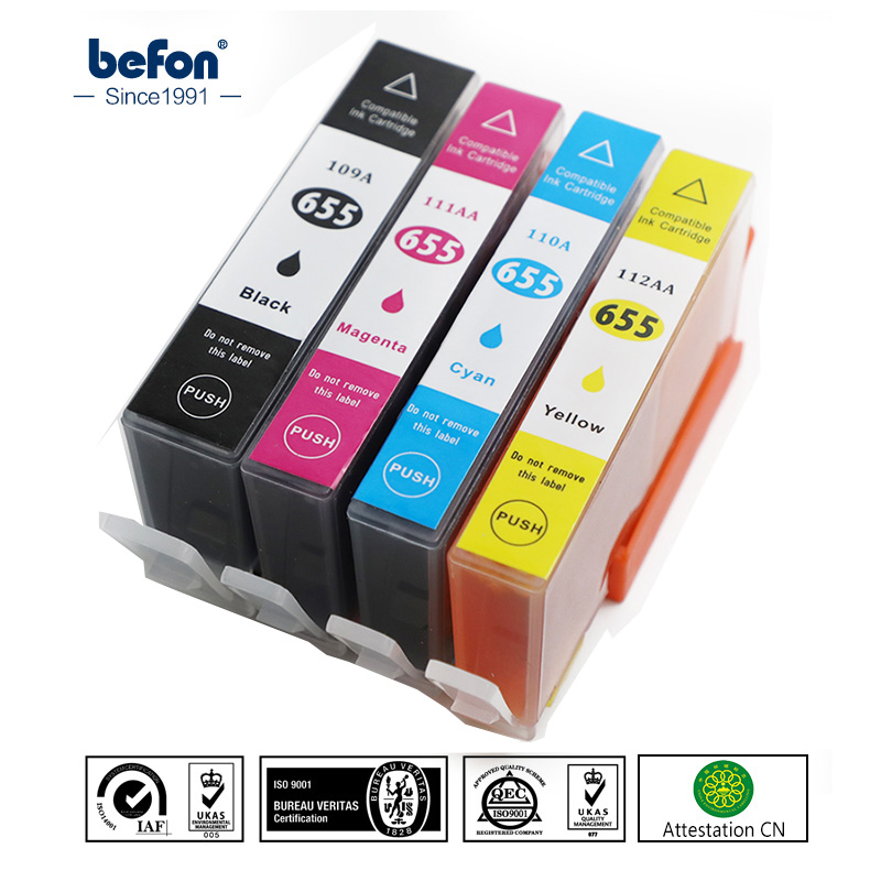 befon Compatible 655 Ink Cartridge Replacement for HP 655 HP655 for deskjet 3525 5525 4615 4625 4525 6520 6525 6625 Printer image