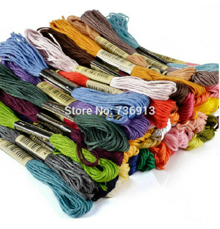 Total 447 Pieces Cross Stitch Embroidery Floss Yarn Thread  //  Similar DMC  //  Cotton  //  Factory Shop