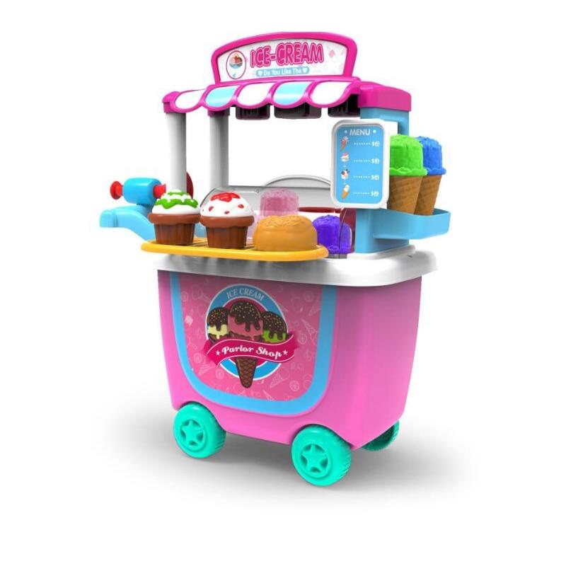 7 Stili Per Bambini Giochi Di Imitazione Giocattoli Da Cucina Barbecue Cibo Cosmetici Casa Un Gioco Da Ragazzi Trolley Giocattoli Per I Ragazzi Della Ragazza Regalo