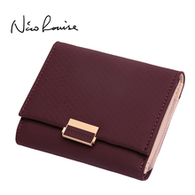 2018 Luxury Wallet Female Leather Women Leather Purse Plaid Wallet Ladies Hot Change Card Holder Coin Small Purses For Girls cheap Coin Pocket Interior Compartment Card Holder Note Compartment Photo Holder Zipper Poucht Interior Slot Pocket Short PT18-967