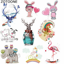 ZOTOONE Iron on Transfer Patches Lovely Animal Appliqued Irons Washable Diy Accessory Clothing Deco Badges Heat