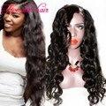 2016 Sale price U part wigs Virgin hair 180% density Unprocessed Wavy U part Human hair wigs on left /right/middle part Instock