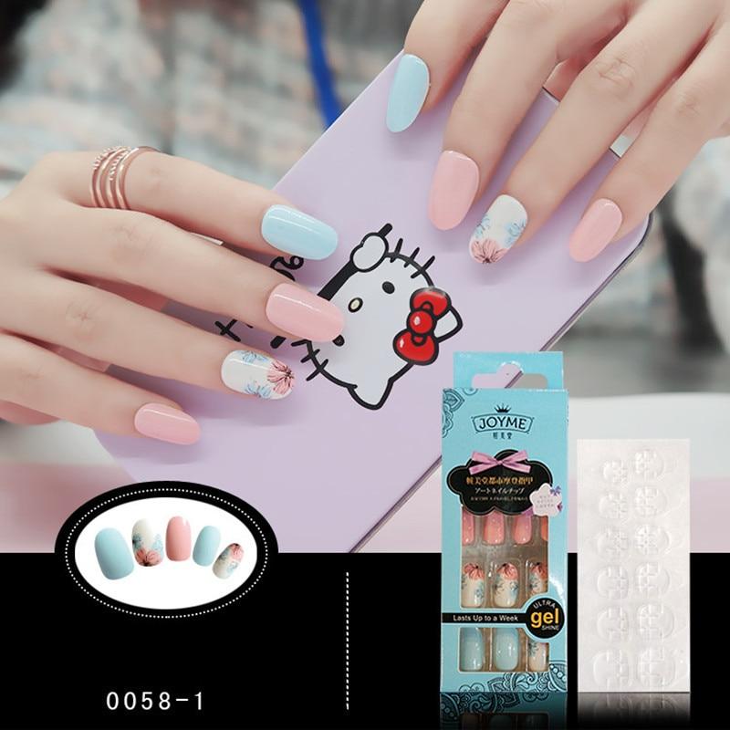 Aliexpress.com : Buy New Design Nail Art Flower Glitter False Nail ...