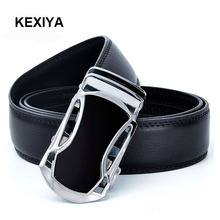 KEXIYA Designers Men Belt Automatic buckles Leather Belts High Quality Luxurious Fashion Accessories Jeans Belts Black Belts