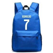 купить Cristiano Ronaldo Canvas Bag Backpack Foot Ball Backpacks Student School Bag For Teenagers Boy Girl RuckSack Travel Laptop Bag по цене 1633.49 рублей