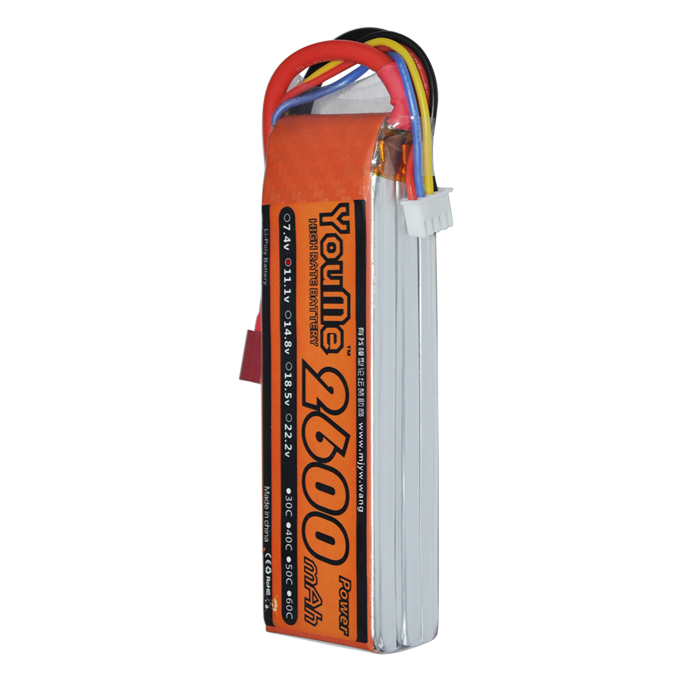 4pcs YouMe 3S 2600mah 11 1V Max 60C RC Battery Short design For RC Helicopters font