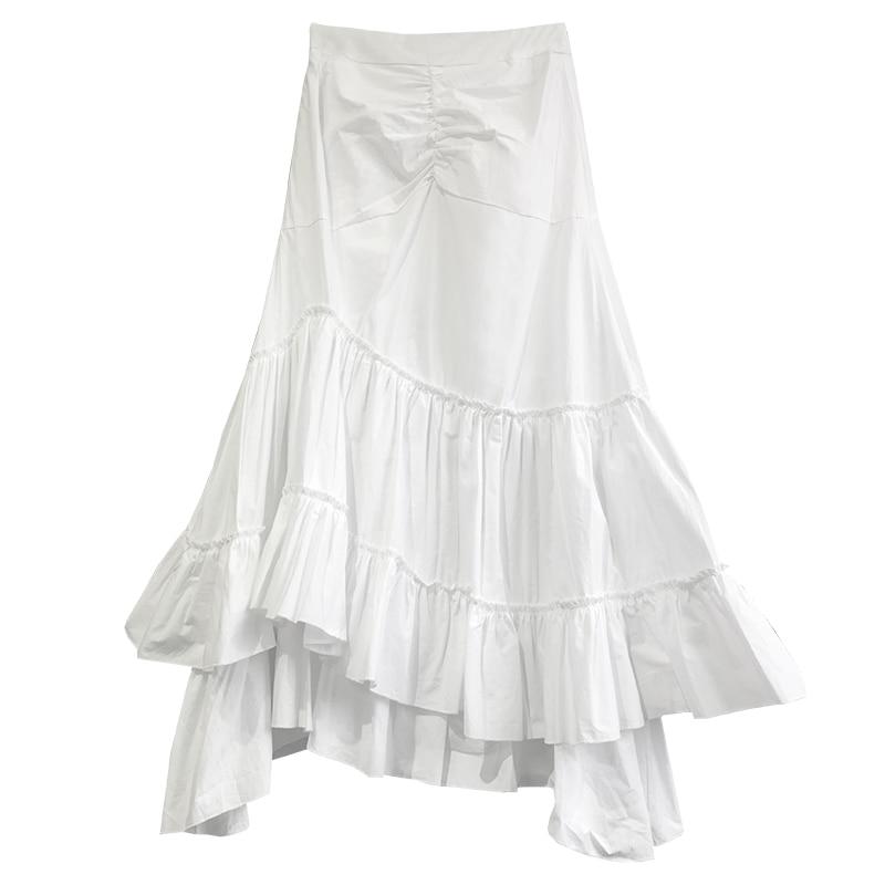 falda Pescado De Principios Primavera Negro Y Hadas Corazón Cola Falda Alta Irregular Cintura Blanco Falda blanco Oscuro Negro Negro La Nuevo 2019 Niña pOwZxZ