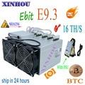 BTC BCH Mijnwerker Ebit E9.3 16TH/s SHA256 Bitcoin Asic mijnwerker met PSU beter dan E9i antminer s9 S9K s9j WhatsMiner M3X M3 T1 T2T