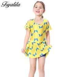 Для девочек-мусульманок купальники Исламский купальник Abrab Дети Купальники 3 до для детей 12 лет скромный мусульманских купальное платье