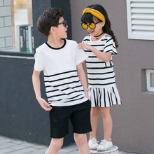 Family Matching Striped Clothing Set