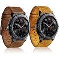 Crazy-caballo de piel genuina correa de reloj pulsera de la correa para samsung gear s3 frontier/classic venda de reloj 22mm